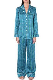 OLIVIA VON HALLE Lila Valentina silk pyjamas