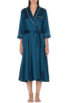 OLIVIA VON HALLE Anoushka silk-satin robe