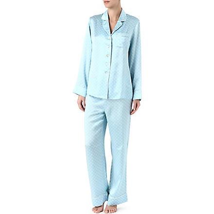 OLIVIA VON HALLE Lila Georgia silk pyjamas (Mint
