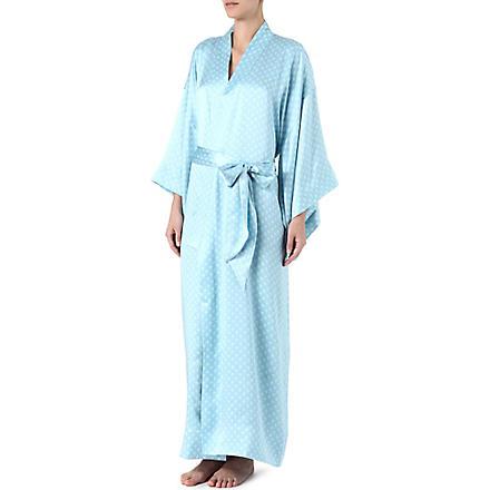 OLIVIA VON HALLE Queenie Georgia kimono robe (Mint