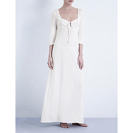 BODAS Long jersey nightdress (White