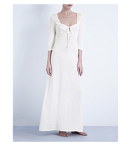 BODAS Long cotton-jersey nightdress (White