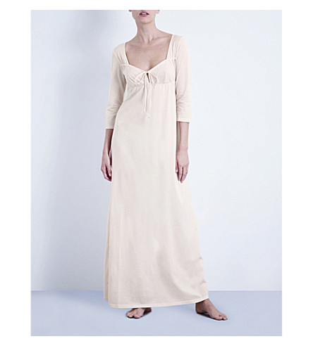 BODAS Long cotton-jersey nightdress (Blush+pink