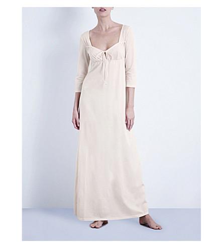 BODAS 长棉质平纹针织睡衣 (腮红 + 粉红色