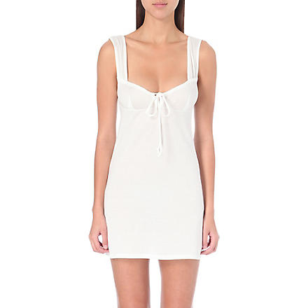 BODAS Short jersey nightdress (White