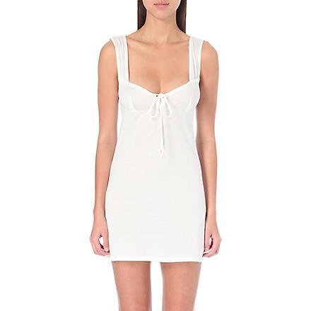 BODAS Short jersey nightdress (White