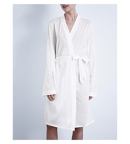 BODAS Short jersey robe (White