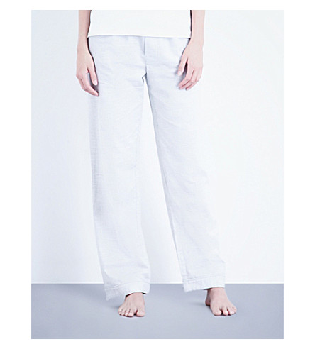 BODAS Montana cotton-jersey pyjama bottoms (Light+grey