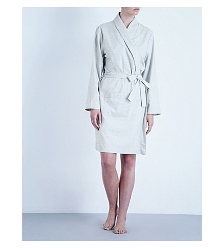 BODAS Montana cotton robe (Light+grey