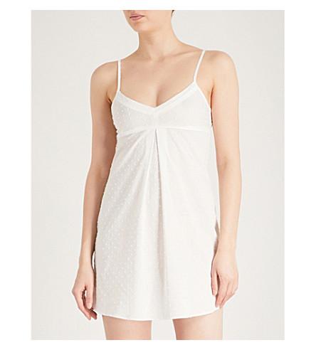 BODAS Provence cotton-voile chemise (White