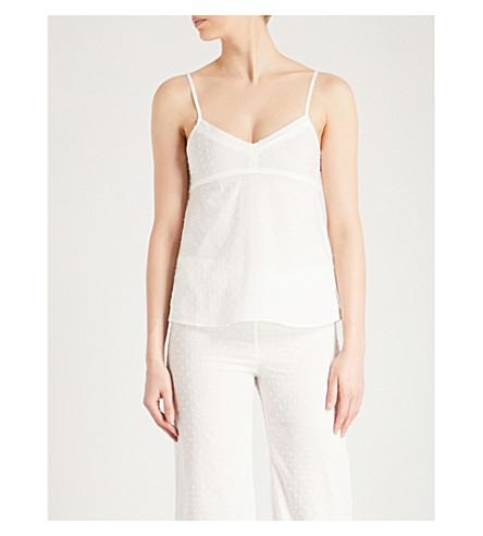 BODAS Provence cotton-voile camisole (White
