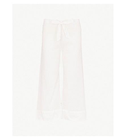 BODAS Provence cotton-voile pyjama bottoms (White