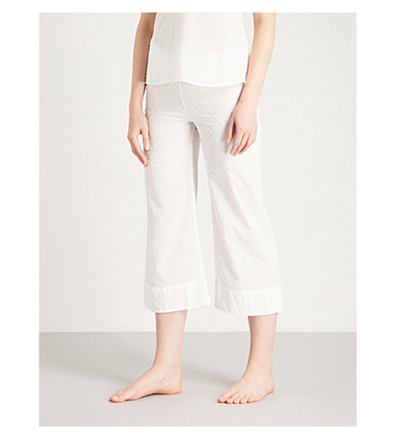 BODAS Provence cotton-voile pyjama bottoms (White