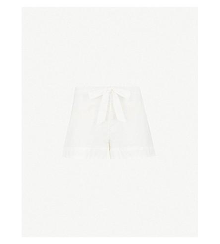 BODAS Provence cotton-voile pyjama shorts (White