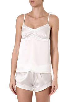 BODAS Silk cami and shorts set