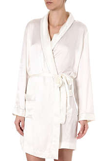 BODAS Silk short robe
