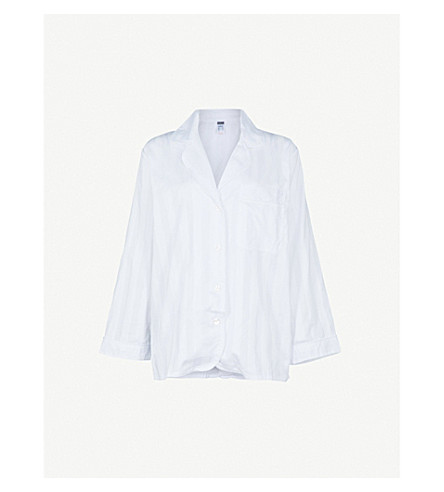 BODAS Cotton pyjama shirt (White