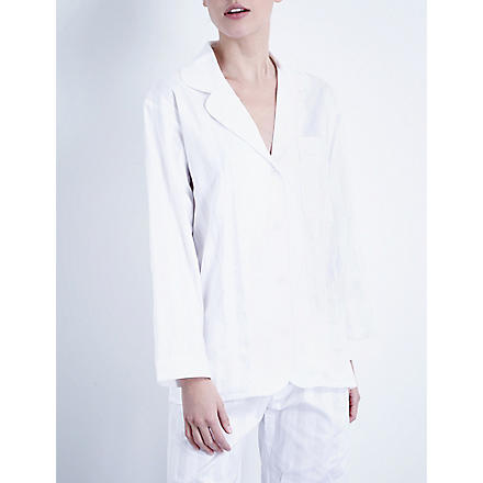 BODAS Cotton pyjama shirt (White