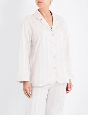 BODAS Striped cotton pyjama shirt