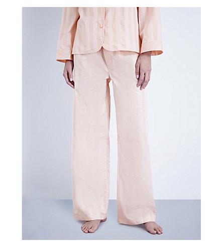BODAS Shadow Stripe cotton pyjama bottoms (Shell+pink