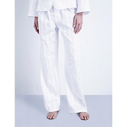 BODAS Cotton pyjama trousers (White