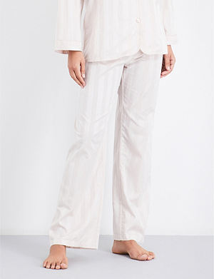 BODAS Striped cotton pyjama bottoms