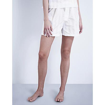 BODAS Cotton pyjama shorts (White
