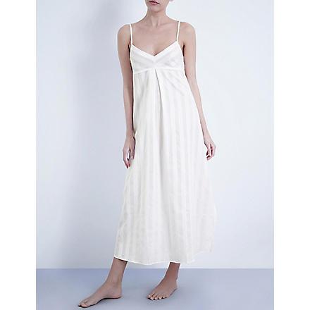 BODAS Long cotton nightdress (White
