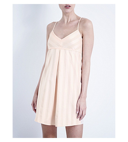 BODAS 阴影条纹棉睡衣 (外壳 + 粉红色