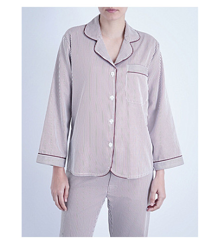 BODAS Verbier striped cotton pyjama shirt (Baie
