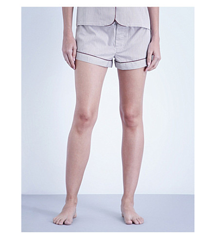 BODAS Verbier striped cotton pyjama shorts (Baie