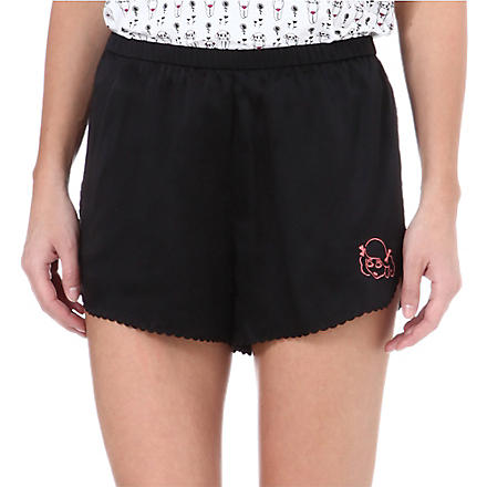 MORGAN LANE Lanie silk shorts (Noir