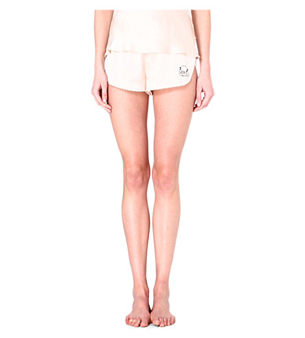 MORGAN LANE Lanie silk shorts (Vanilla