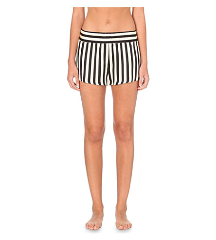 MORGAN LANE Corey silk shorts (Stripe