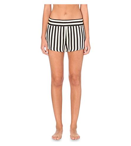 MORGAN LANE Corey silk shorts (Stripe