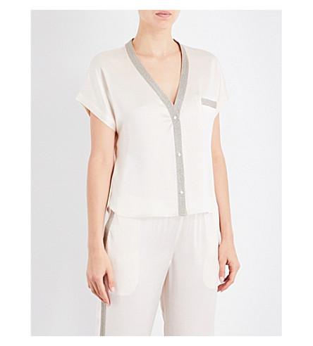 MORGAN LANE Joanie silk-charmeuse pyjama top (Vanilla