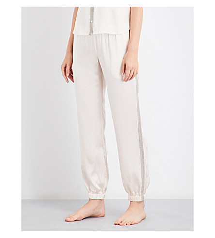 MORGAN LANE Camille silk-charmeuse pyjama trousers (Vanilla