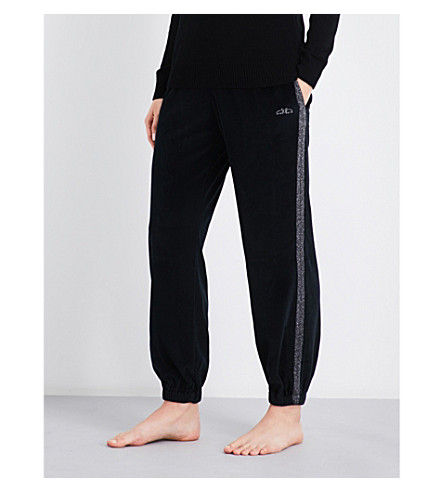 MORGAN LANE Camille velvet jogging bottoms (Noir