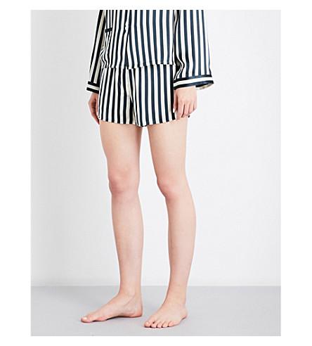 MORGAN LANE Moon Corey silk pyjama shorts (Midnight