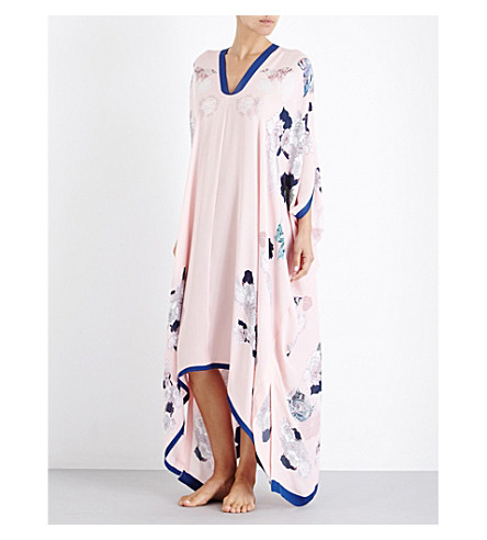 MENG Floral-print silk dress (Rose