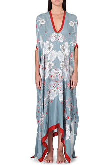 MENG Floral-print silk-georgette cover dress