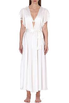 GILDA & PEARL Dahlia silk-georgette robe
