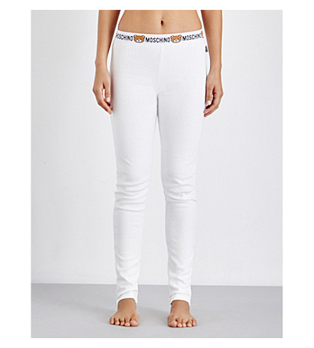 MOSCHINO Underbear ribbed cotton leggings (2+white