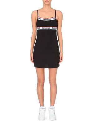 MOSCHINO Cotton-jersey slip dress