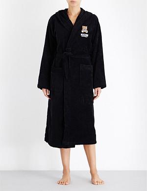 MOSCHINO Branded cotton bathrobe