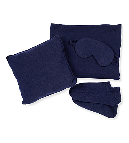 ALLUDE Luxury Cashmere Travel Set (0017+navy