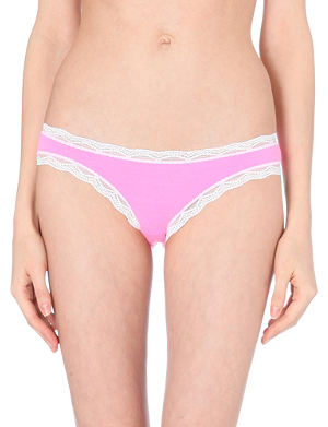 CHEEK FRILLS Frill-trim low-rise jersey briefs
