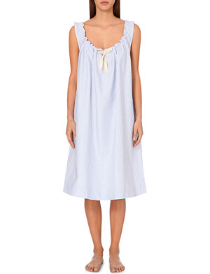 THE SLEEP SHIRT Sleeveless cotton nightdress