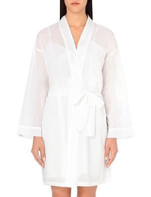 POUR LES FEMMES Short cotton robe