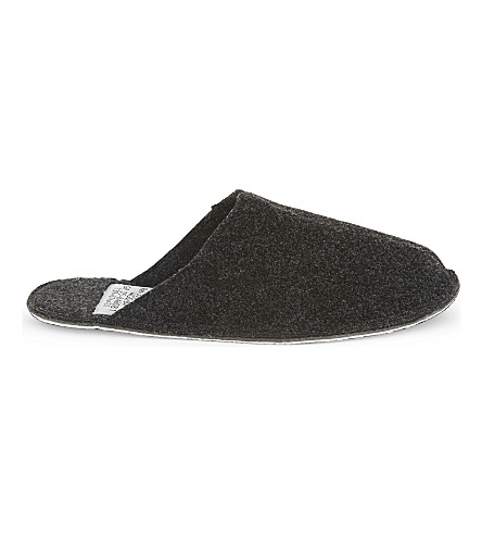 PUEBCO Large wool slippers (Dark grey